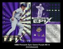 1998 Pinnacle Epix Game Purple #E14
