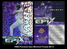 1998 Pinnacle Epix Moment Purple #E14