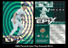 1998 Pinnacle Epix Play Emerald #E14