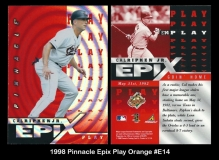 1998 Pinnacle Epix Play Orange #E14
