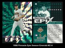1998 Pinnacle Epix Season Emerald #E14