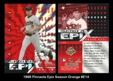 1998 Pinnacle Epix Season Orange #E14