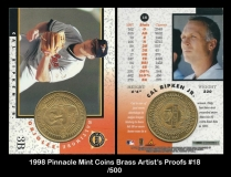 1998 Pinnacle Mint Coins Brass Artists Proofs #18