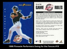 1998 Pinnacle Performers Swing for the Fences #19