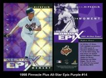 1998 Pinnacle Plus All-Star Epix Purple #14