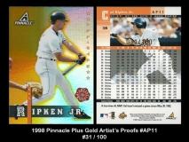 1998 Pinnacle Plus Gold Artists Proofs #AP11