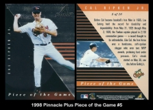 1998 Pinnacle Plus Piece of the Game #5
