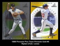 1998 Pinnacle Plus Team Pinnacle Gold #5 Ripken Foil