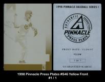 1998-Pinnacle-Press-Plates-S46-Yellow-Front