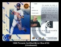 1998 Pinnacle Certified Mirror Blue #150