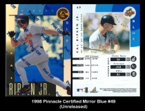 1998 Pinnacle Certified Mirror Blue #49