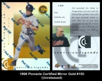 1998 Pinnacle Certified Mirror Gold #150