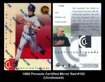1998 Pinnacle Certified Mirror Red #150