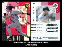 1998 Pinnacle Certified Mirror Red #49