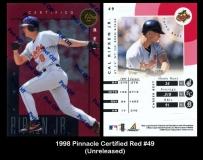 1998 Pinnacle Certified Red #49