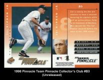 1998 Pinnacle Team Pinnacle Collectors Club #B3