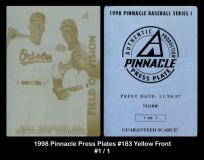 1998-Pinnacle-Press-Plates-183-Yellow-Front