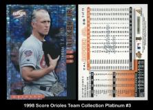 1998 Score Orioles Team Collection Platinum #3