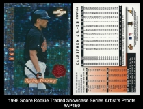 1998 Score Rookie Traded Showcase Series Artists Proofs #AP160