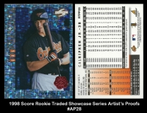 1998 Score Rookie Traded Showcase Series Artists Proofs #AP28