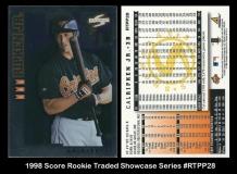 1998 Score Rookie Traded Showcase Series #RTPP28