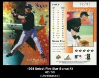 1998 Select Five Star Bonus #3