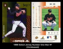 1998 Select Jersey Number One Star #7
