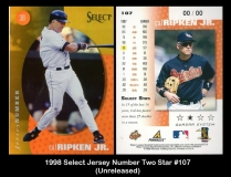 1998 Select Jersey Number Two Star #107
