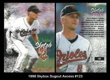 1998 Skybox Dugout Axcess #123