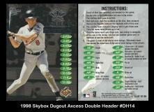 1998 Skybox Dugout Axcess Double Header #DH14