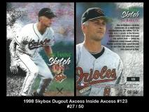 1998 Skybox Dugout Axcess Inside Axcess #123