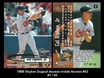 1998 Skybox Dugout Axcess Inside Axcess #52
