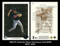 1998 SP Authentic Sheer Dominance Gold #SD8