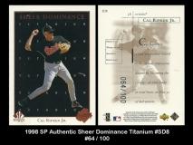 1998 SP Authentic Sheer Dominance Titanium #SD8