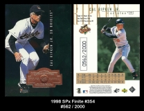 1998 SPx Finite #354