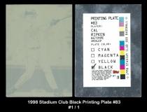 1998 Stadium Club Black Printing Plate #83