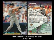 1998 Stadium Club First Day Issue #83