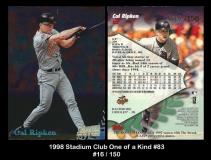 1998 Stadium Club One of a Kind #83