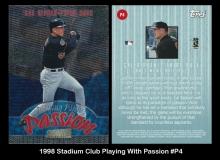 1998 Stadium Club Playing With Passion #P4