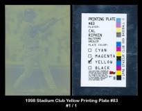 1998-Stadium-Club-Yellow-Printing-Plate-83