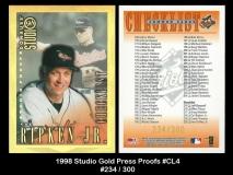 1998 Studio Gold Press Proofs #CL4