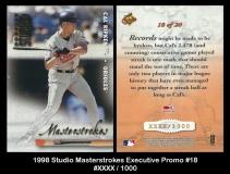 1998 Studio Masterstrokes Executive Promo #18