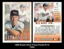 1998 Studio Silver Press Proofs #113