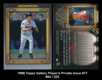 1998 Topps Gallery Player's Private Issue #77
