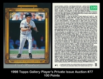 1998 Topps Gallery Player's Private Issue Auction #77 100 Points