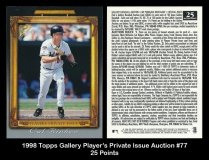 1998 Topps Gallery Player's Private Issue Auction #77 25 Points