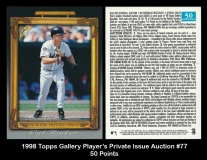 1998 Topps Gallery Player's Private Issue Auction #77 50 Points