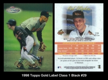 1998 Topps Gold Label Class 1 Black #29