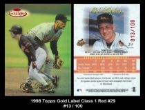 1998 Topps Gold Label Class 1 Red #29