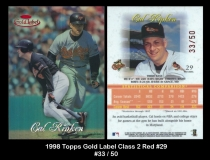 1998 Topps Gold Label Class 2 Red #29